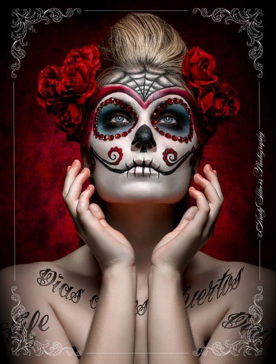 maquillaje-catrina-halloween-rosas-rojas