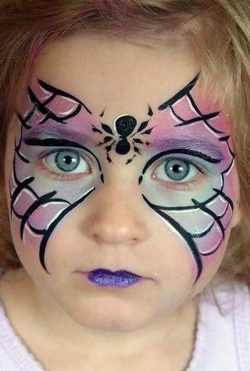 maquillaje-halloween-ninos-mascara-araña