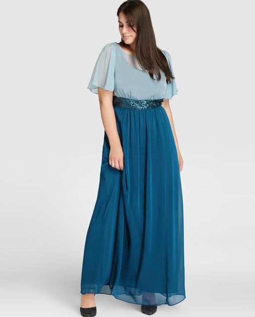 vestidos-de-fiesta-tallas-grandes-otono-invierno-2017-falda-azul