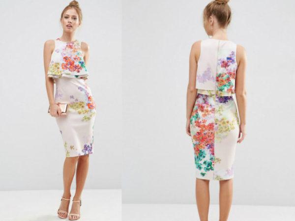 vestidos-para-ir-a-una-comunión-asos-de-tubo-flores