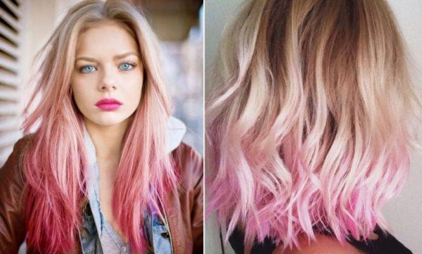 mechas-californianas-en-pelo-rubio-rosa