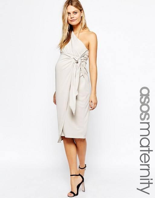 vestidos-de-fiesta-premama-para-embarazadas-asimétrico-drapeado