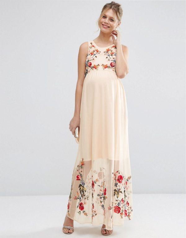 vestidos-de-fiesta-premama-para-embarazadas-asos-largo-malla-bordado