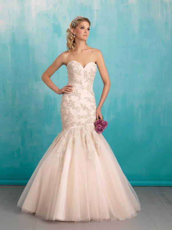vestidos-de-novia-corte-sirena-color-rosa-pedreia-tul