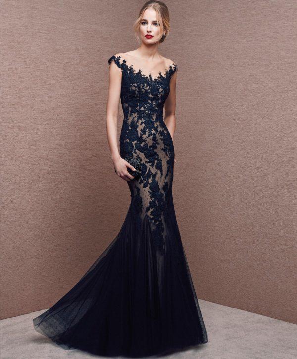 vestidos-de-novia-corte-sirena-encaje-negro