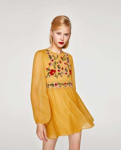 vestidos-amarillos-corto-bordado-zara
