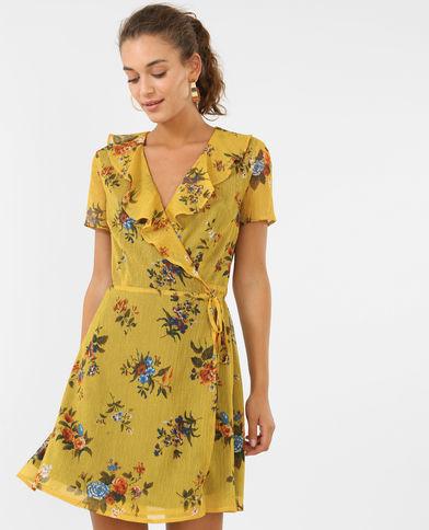vestidos-amarillos-corto-estampado-pimkie