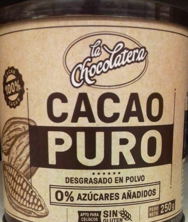 Cacao puro de Mercadona 0%