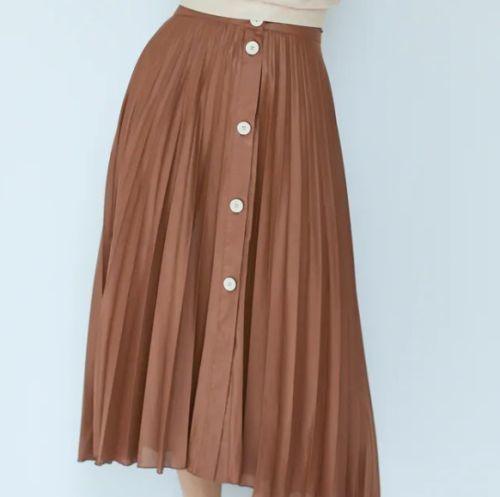 Falda plisada de botones Zara Otoño Invierno 2021 - 21
