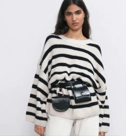 Jersey Oversize de rayas Zara Otoño Invierno 2020-21