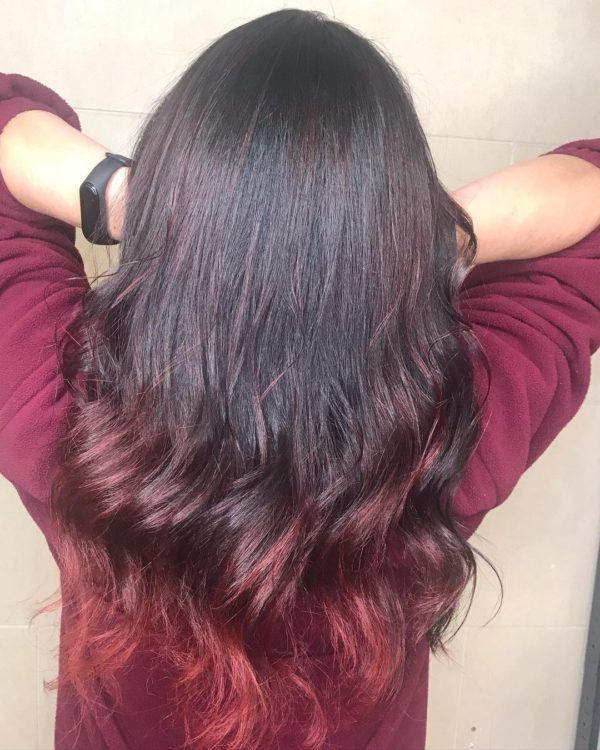 Corte de pelo a capa a tres niveles