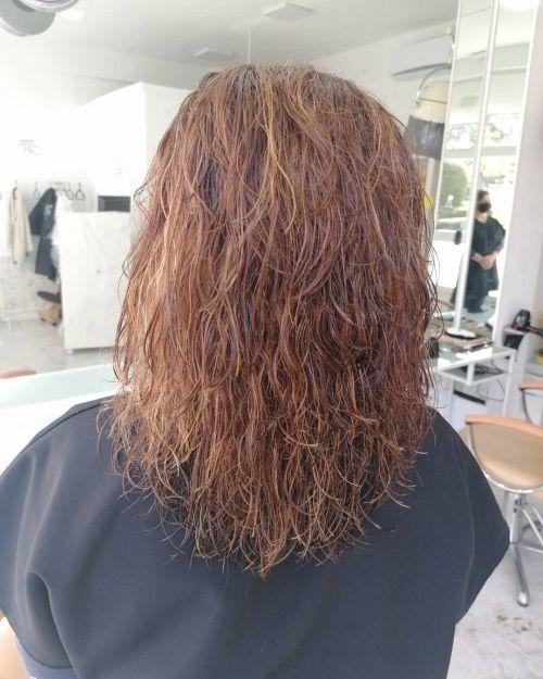 Corte de pelo degradado con muchas capas
