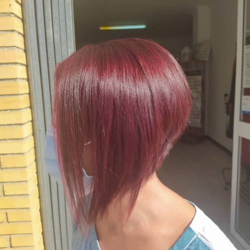 Corte de pelo corto desigual