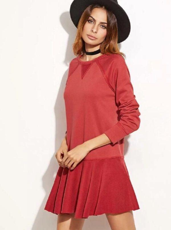 Estilos de vestidos vestido 2021 cintura baja shein rojo