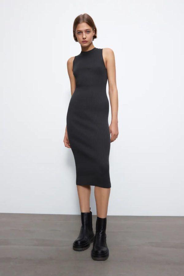 Estilos de vestidos vestido 2021 tubo zara sin mangas