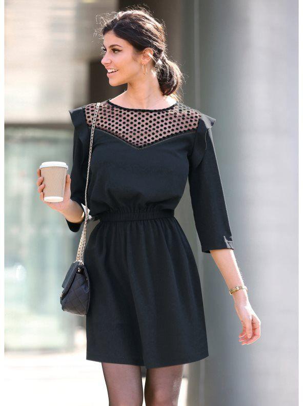 Estilos de vestidos vestido 2021 vestido canesu venca semitransparente y cintura elastica negro