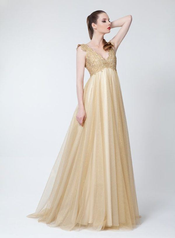 Estilos de vestidos vestido 2021 vestido corte imperio