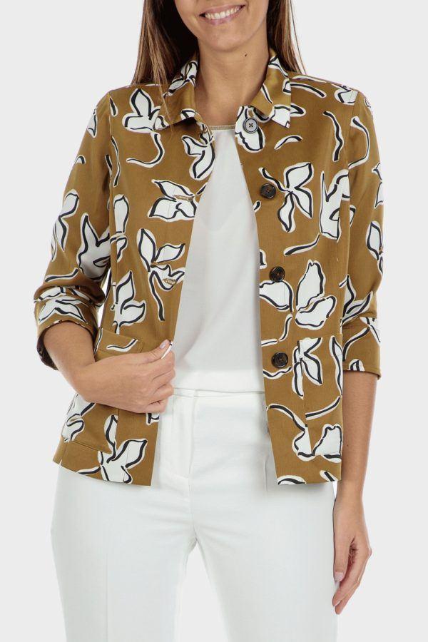 Catalogo punto roma primavera verano 2021 chaqueta estampada flores
