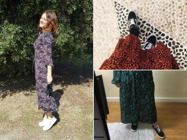 Cómo combinar vestidos con zapatillas