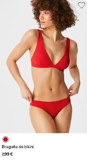 Micro Bikini rojo C&A