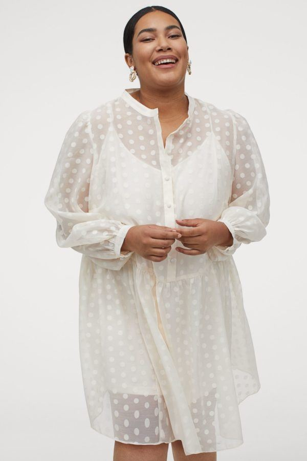 Vestidos de fiesta para gorditas vestido de H&M blanca manga puffy