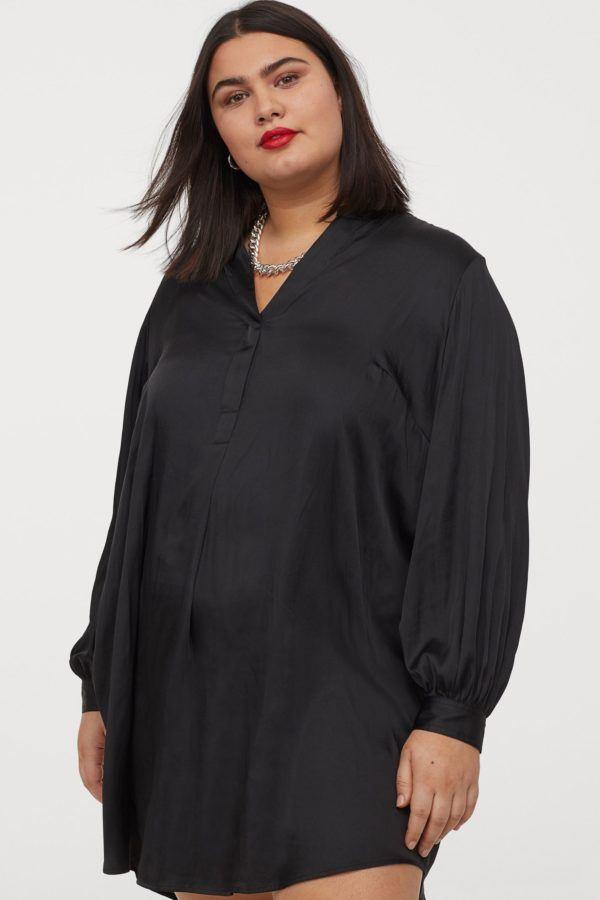 Vestidos de fiesta para gorditas vestido h&m negro saten