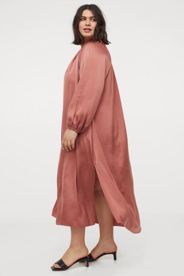 Vestidos de fiesta para gorditas vestido rosa brillo