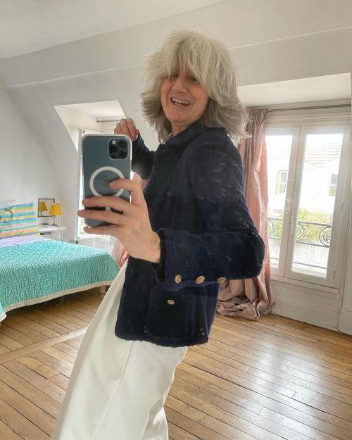 Sophie Fontanel corte de pelo shaggy + de 50