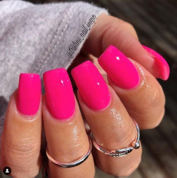 Dip powder nails 2021 rosas