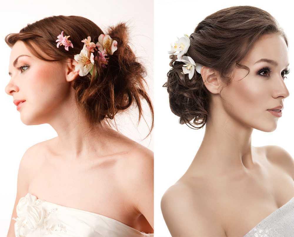 Peinados de boda florales