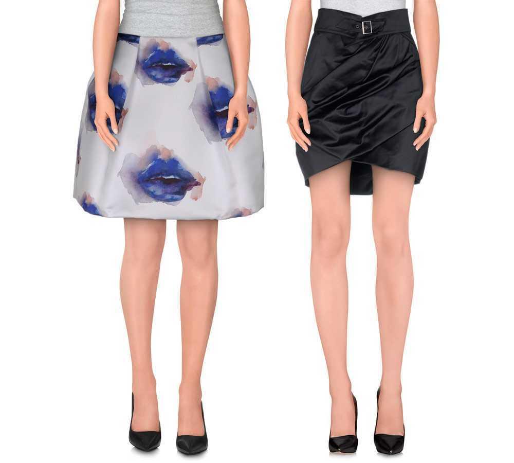Faldas de globo