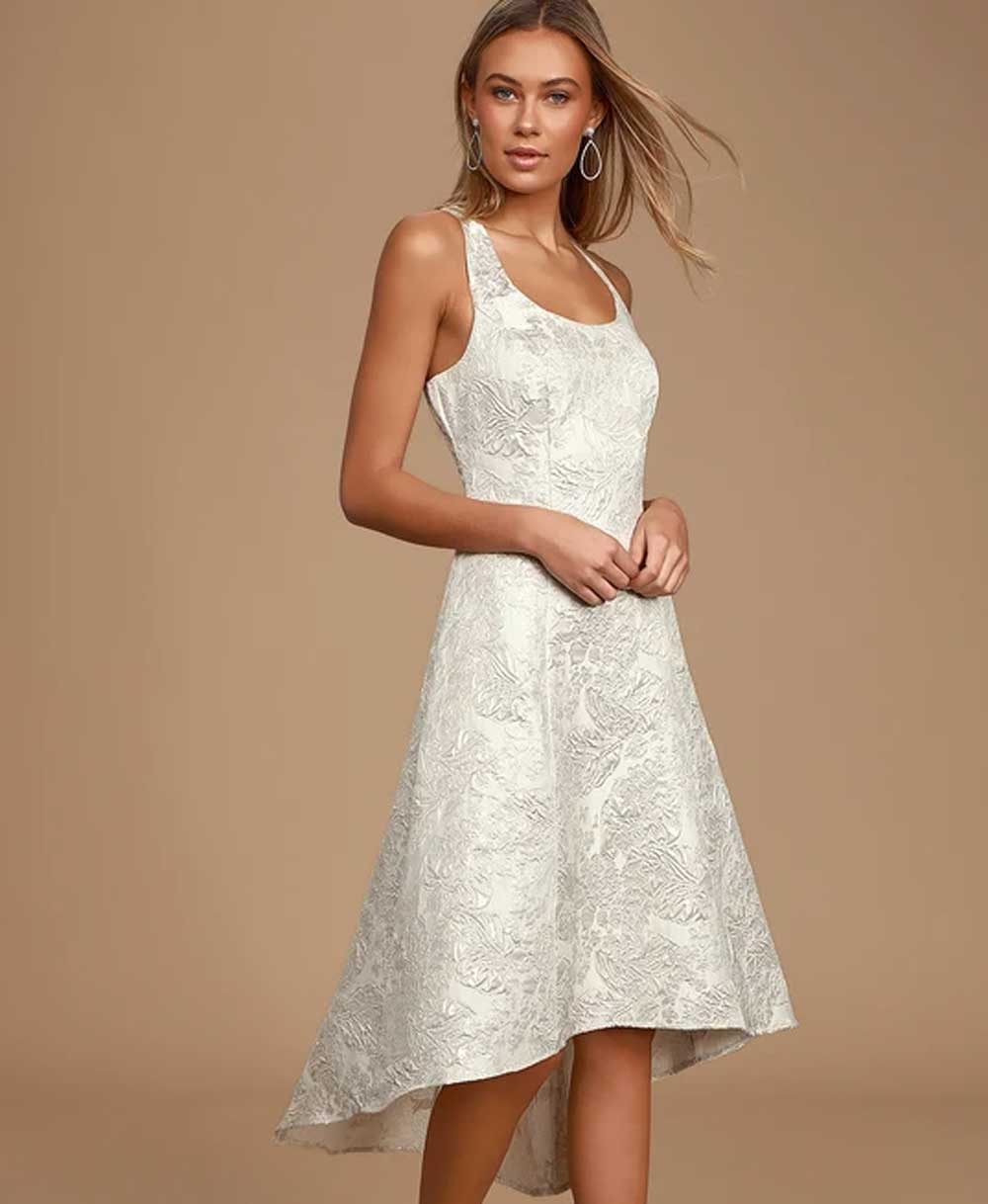 Vestido elegante para niña blanco