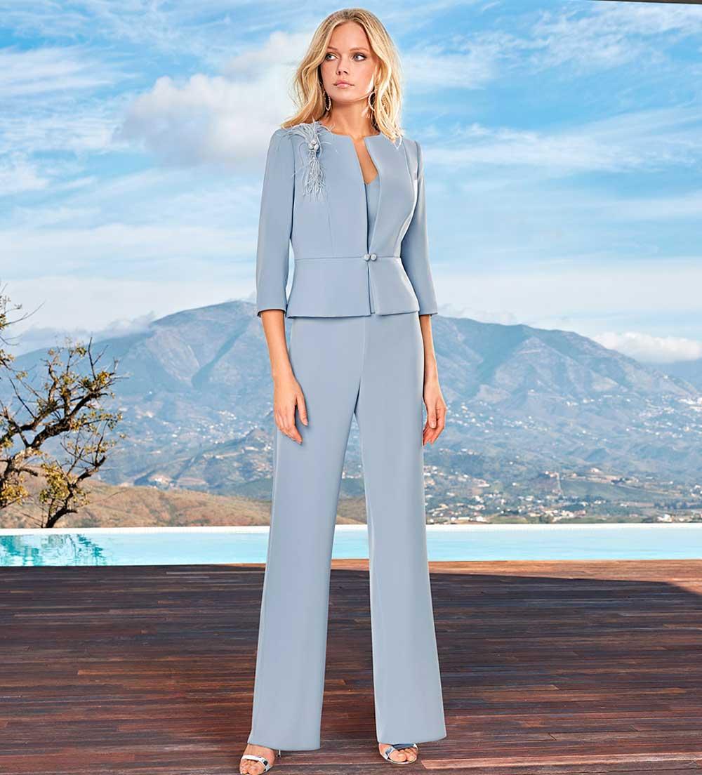 vestidos de ceremonia con pantalones 2021