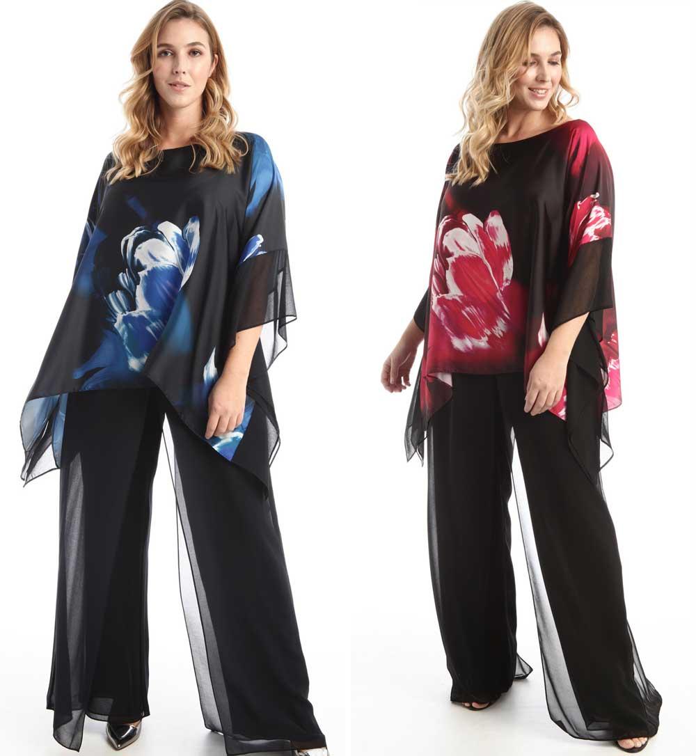 vestidos de gala con pantalones 2021