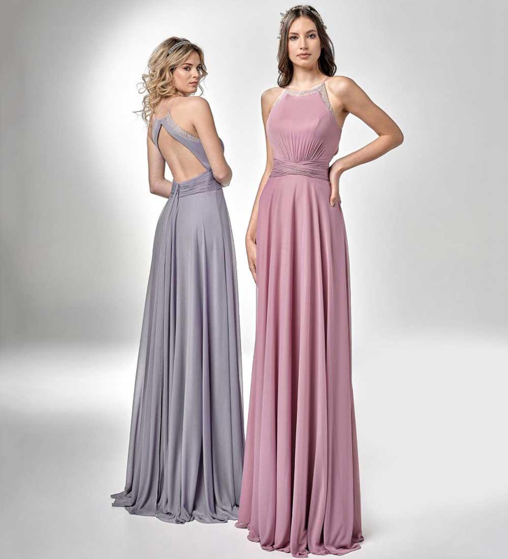 vestido elegante con cola