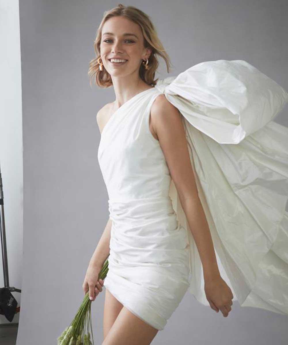 vestido de novia con un hombro