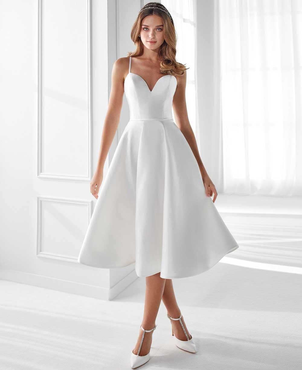 vestido de novia midi