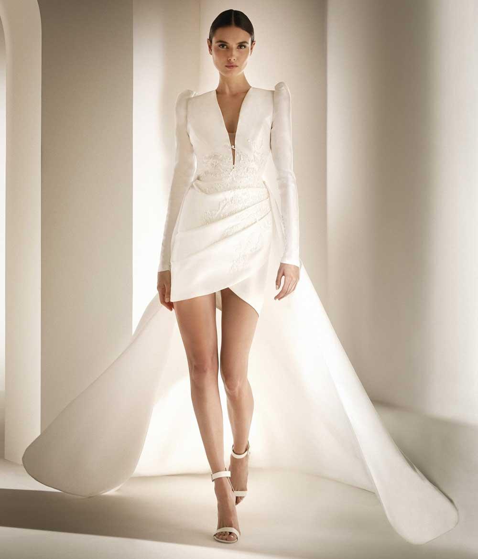 vestido de novia blanco de Pronovias