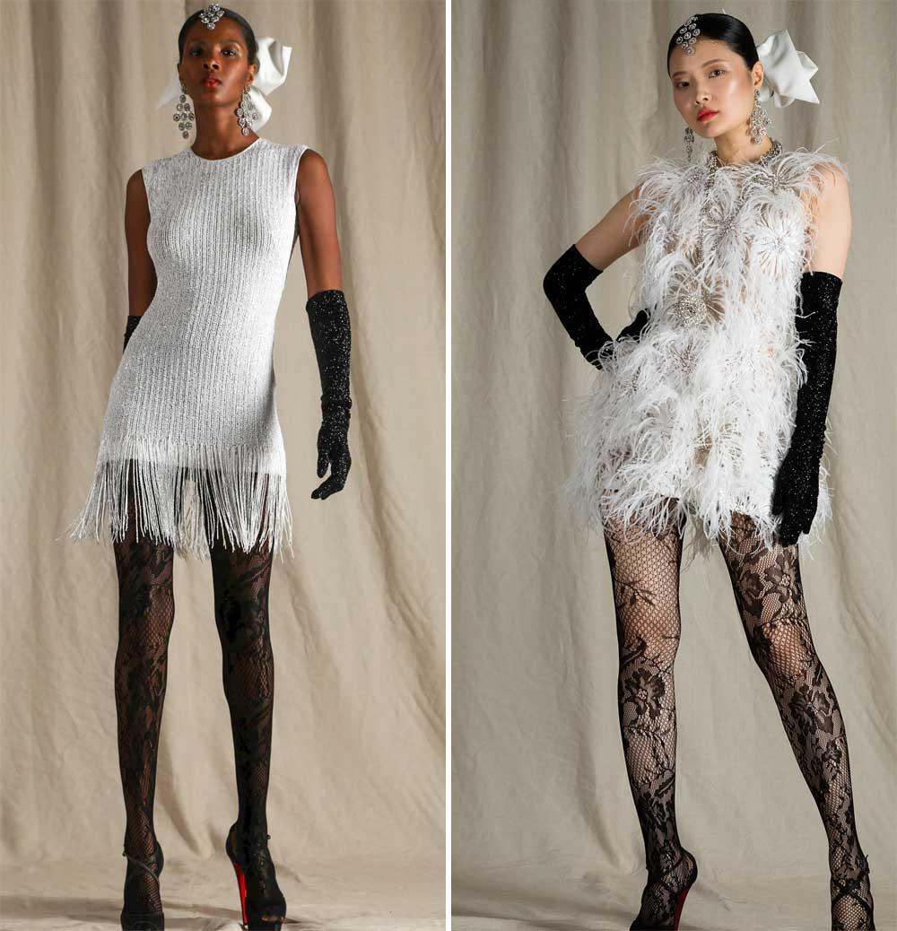 mini vestido de novia estilo charleston