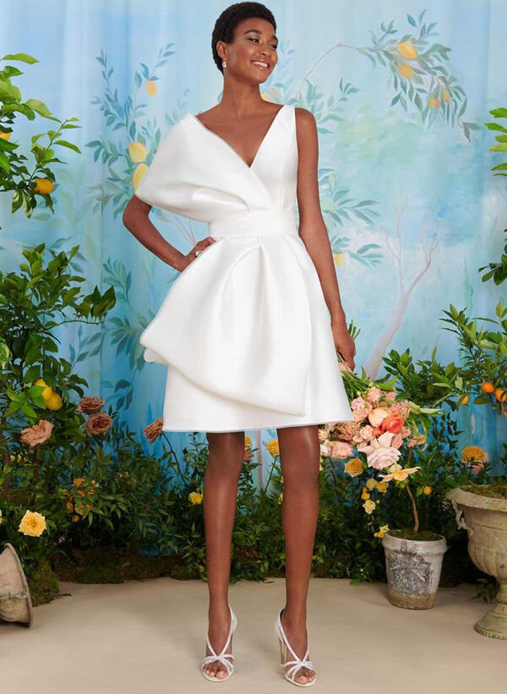 vestido de novia mikado brillante