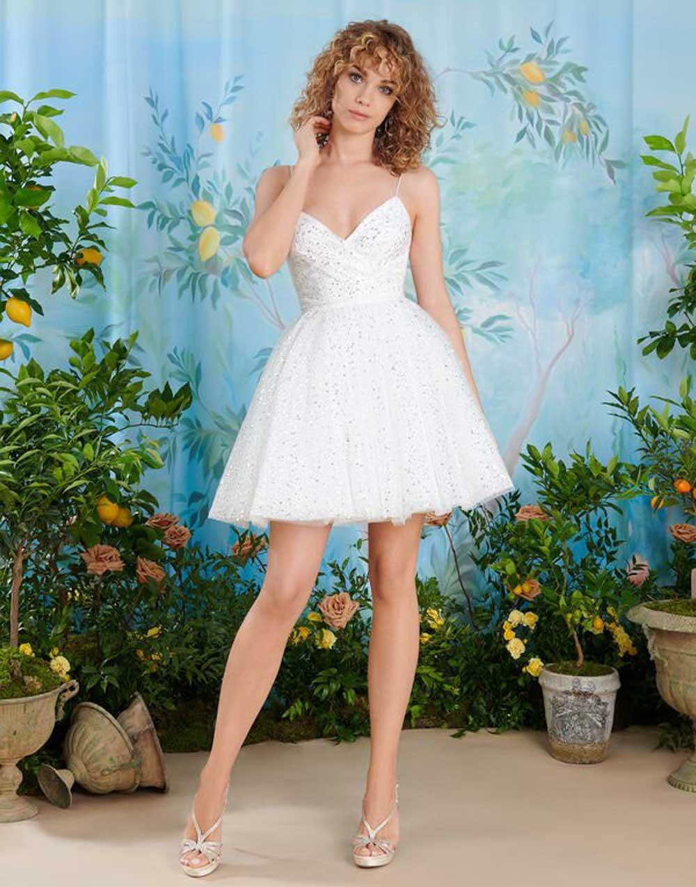 vestido de novia de tul blanco