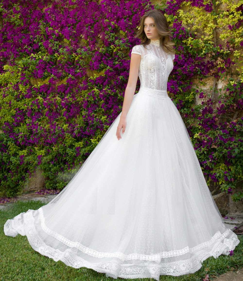 Vestido de novia de encaje Nadia Orlando