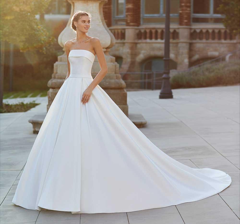 vestido de novia sin tirantes