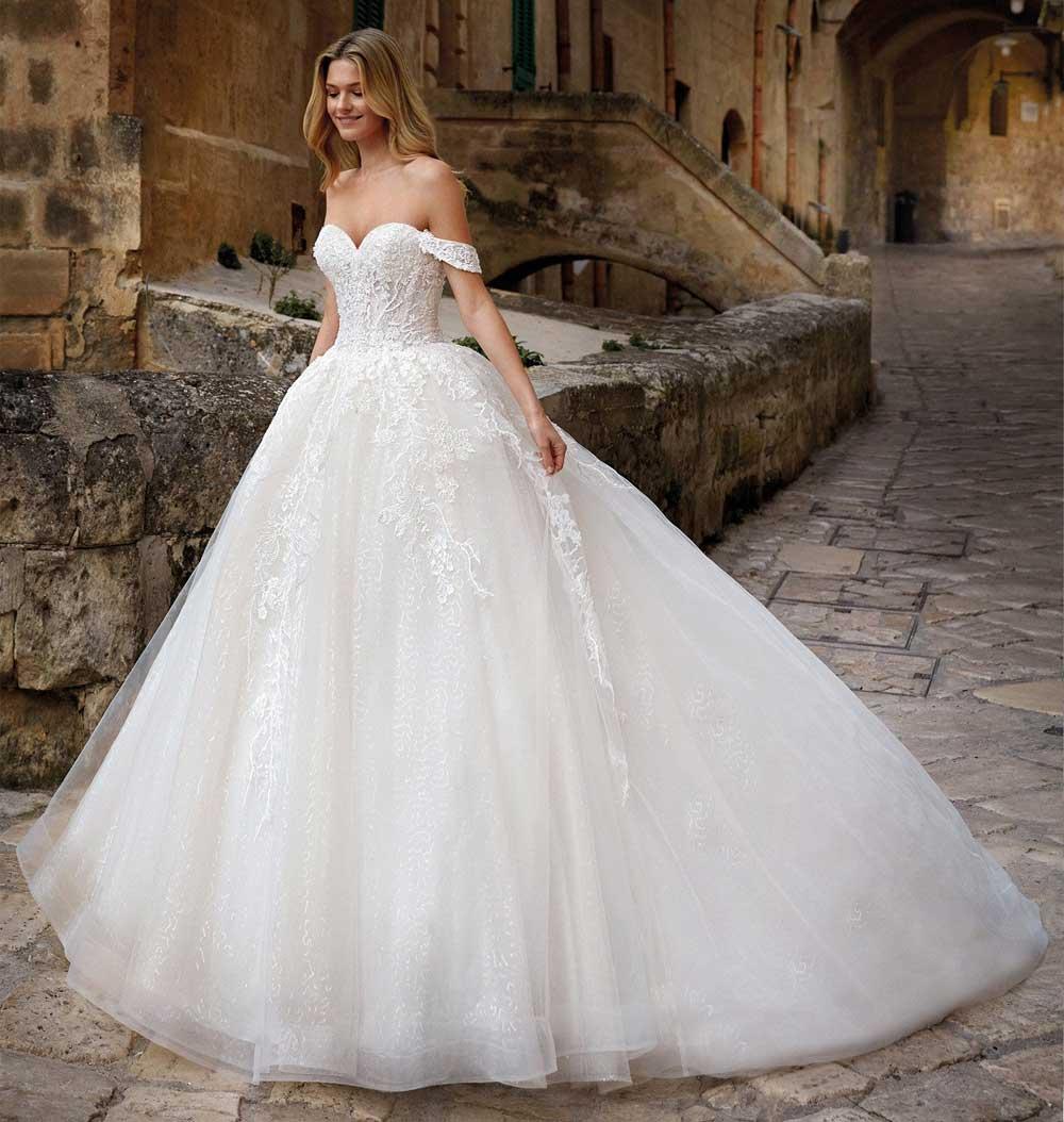 maxi vestido de novia de tul