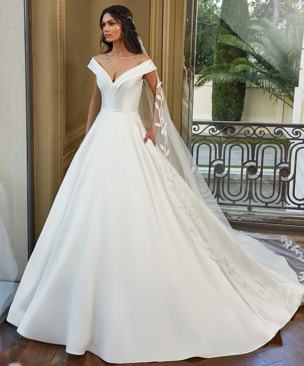 vestido de novia mikado