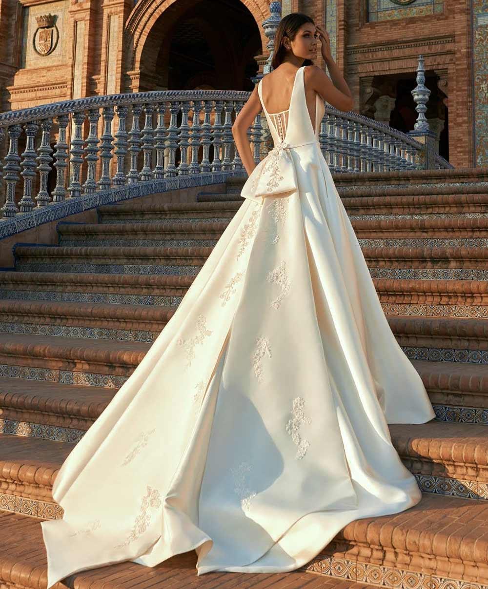 mikado maxi vestido de novia