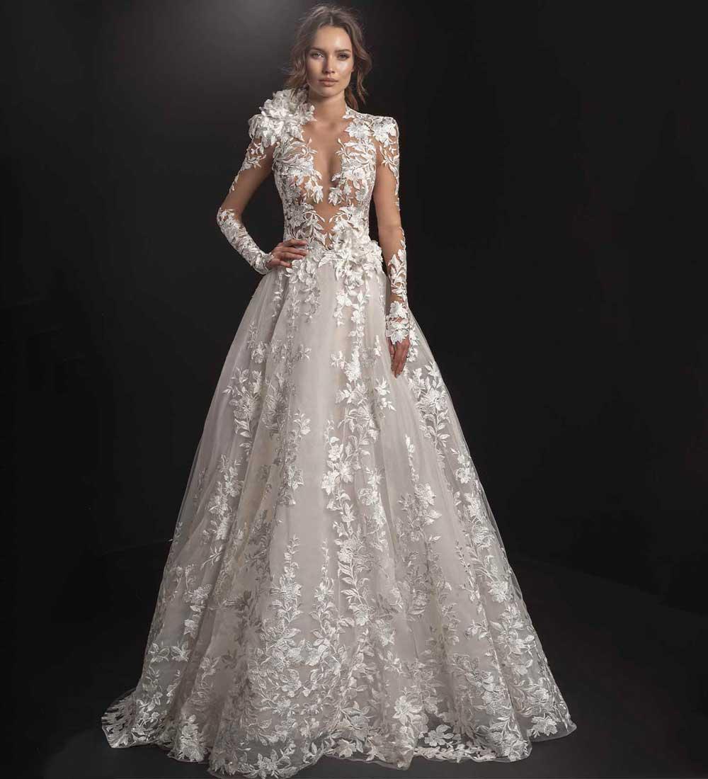 maxi vestido de novia de encaje