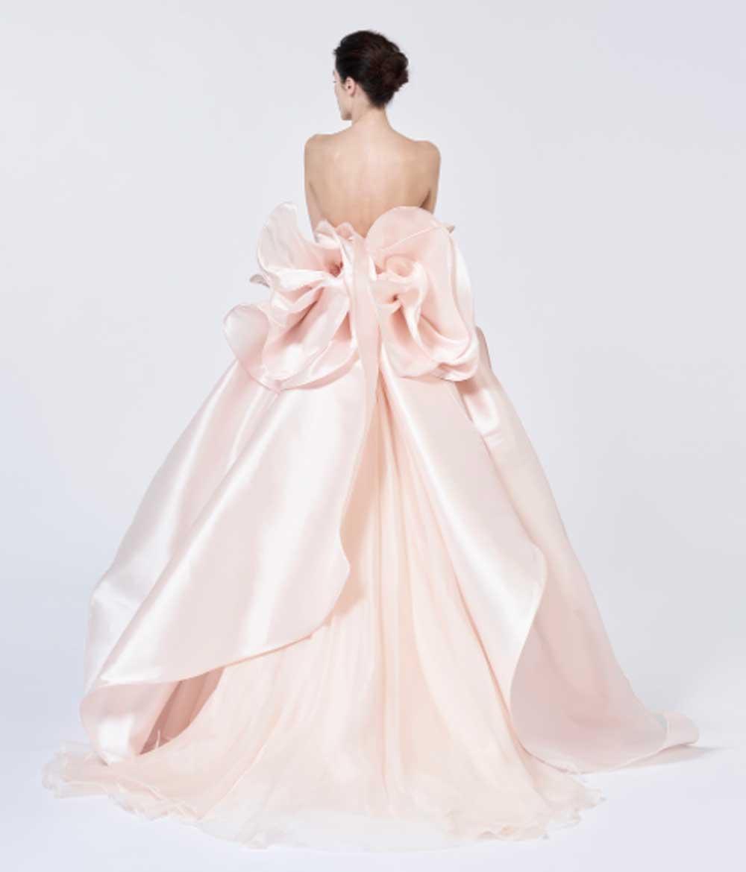 Vestido de novia rosa Antonio Riva
