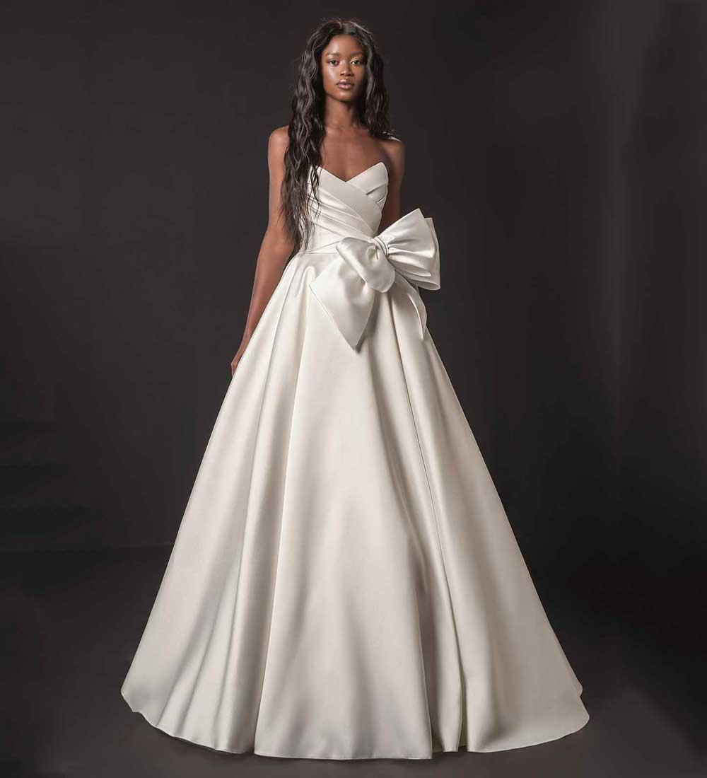 maxi vestido de novia de seda blanco