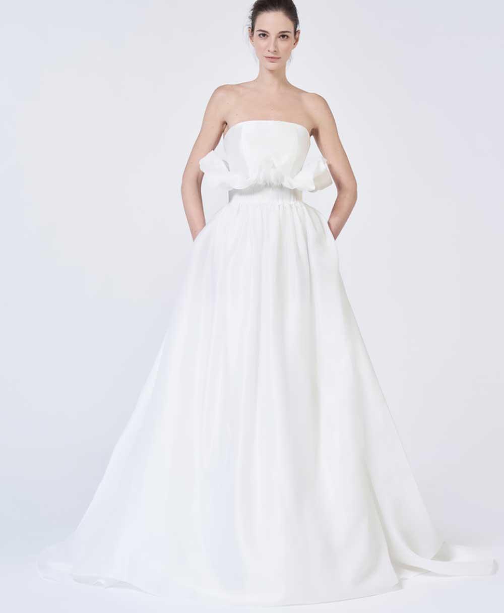 Vestido de novia bandeau